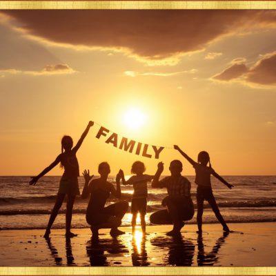 złota ramka na zdjęcie rodzinne